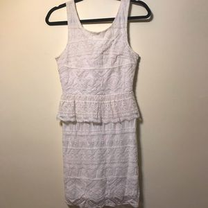 AE lace+peplum dress
